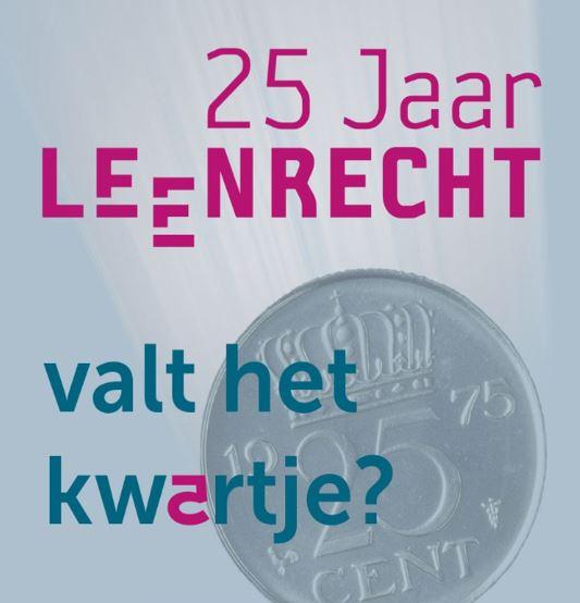 Logo 25 jaar Stichting Leenrecht
